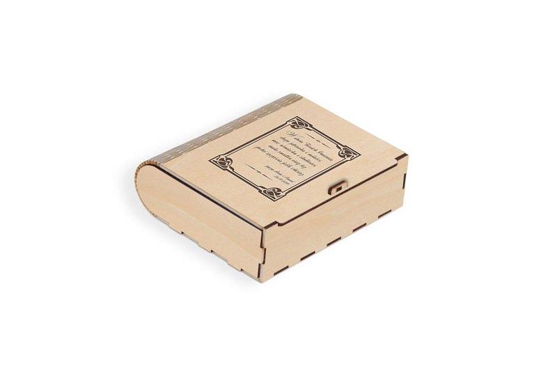 Grawerowane pudełko jasne na prezent