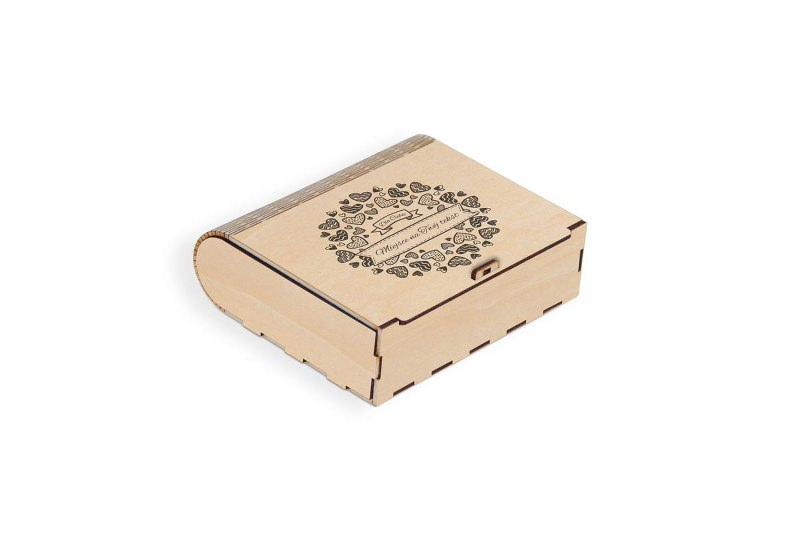 Pudełko drewniane grawerowane na prezent