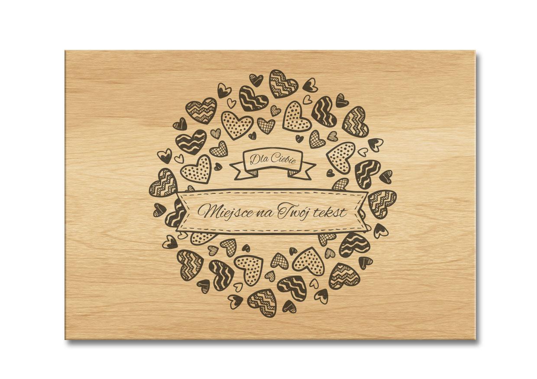 Pudełko drewniane grawerowane na prezent grawer