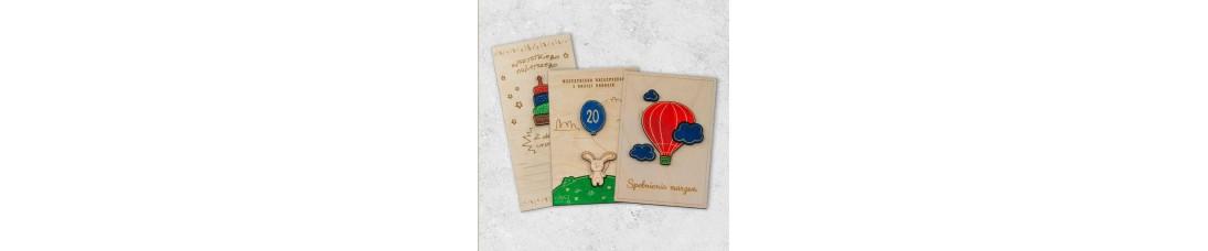 Kartki pocztowe grawerowane