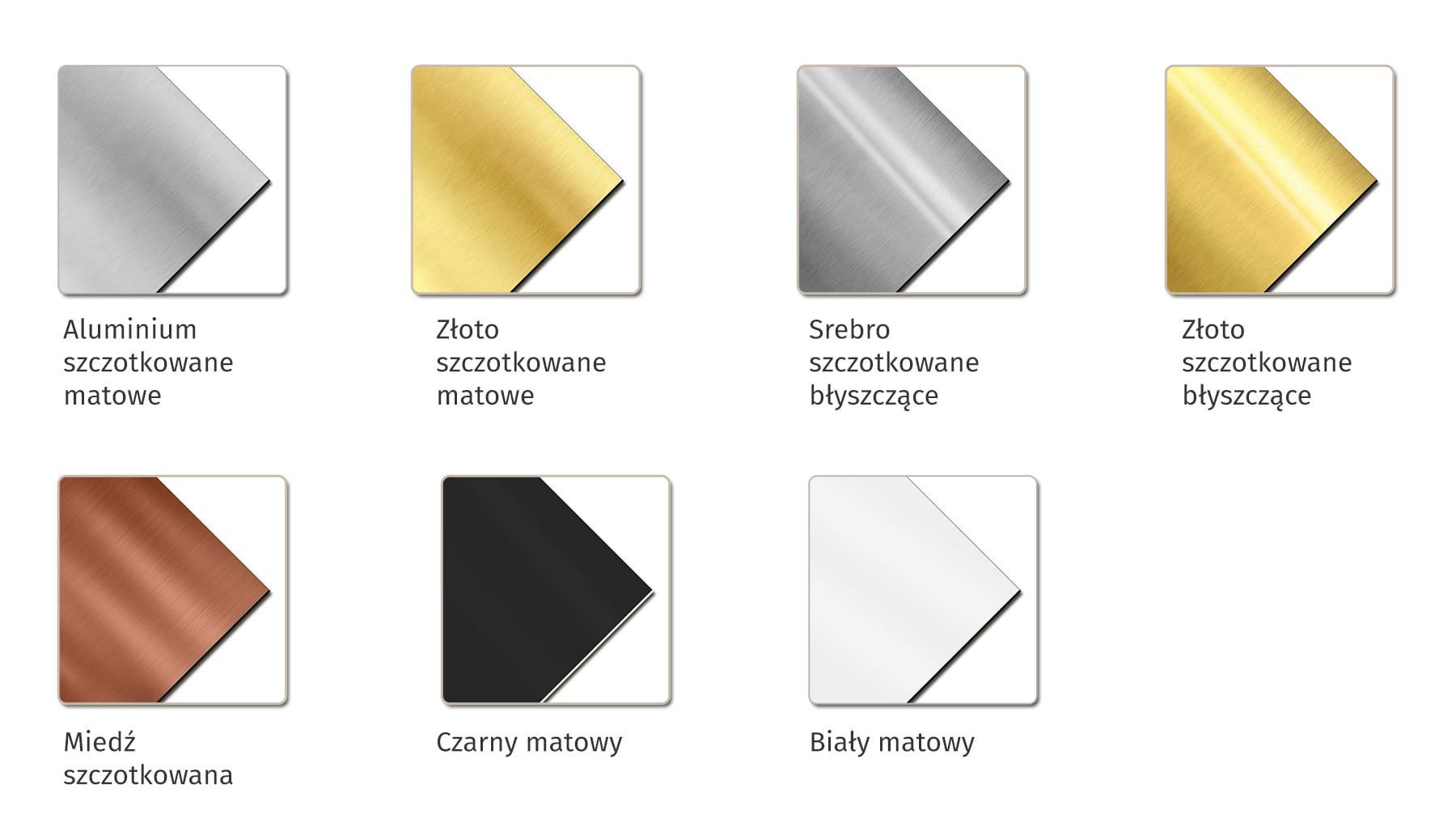 kolory laminatow do identyfikatorow