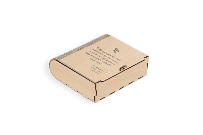 Pudełko drewniane na prezent jasne
