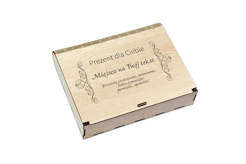 Grawerowane pudełko na prezent