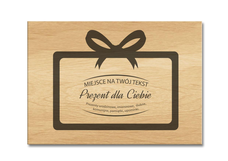 Pudełko jasne drewno na prezent grawer