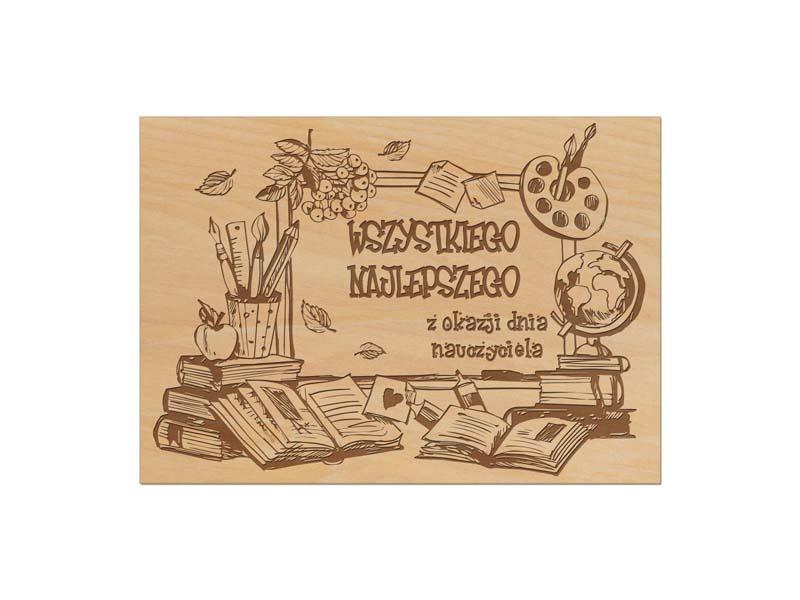 drewniana kartka na dzień nauczyciela