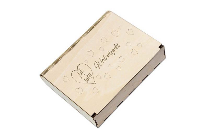 Pudełko drewniane na prezent